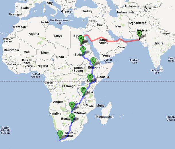 La ruta Africana
